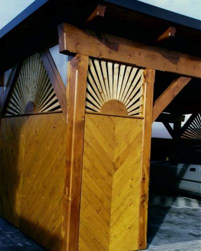 Fózolt hajópadló lucfenyőből lovarda