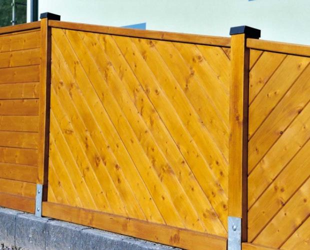 Fózolt hajópadló lucfenyőből kerítés